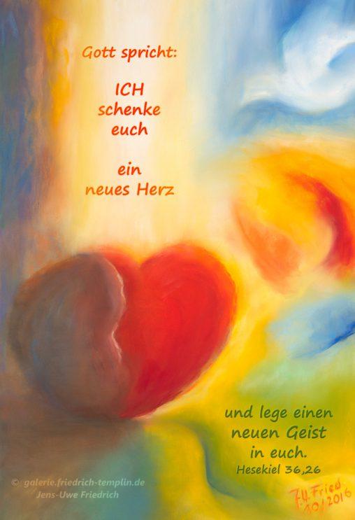 Postkarte Jahreslosung 2017 Pastell farbenfroh Jens-Uwe Friedric