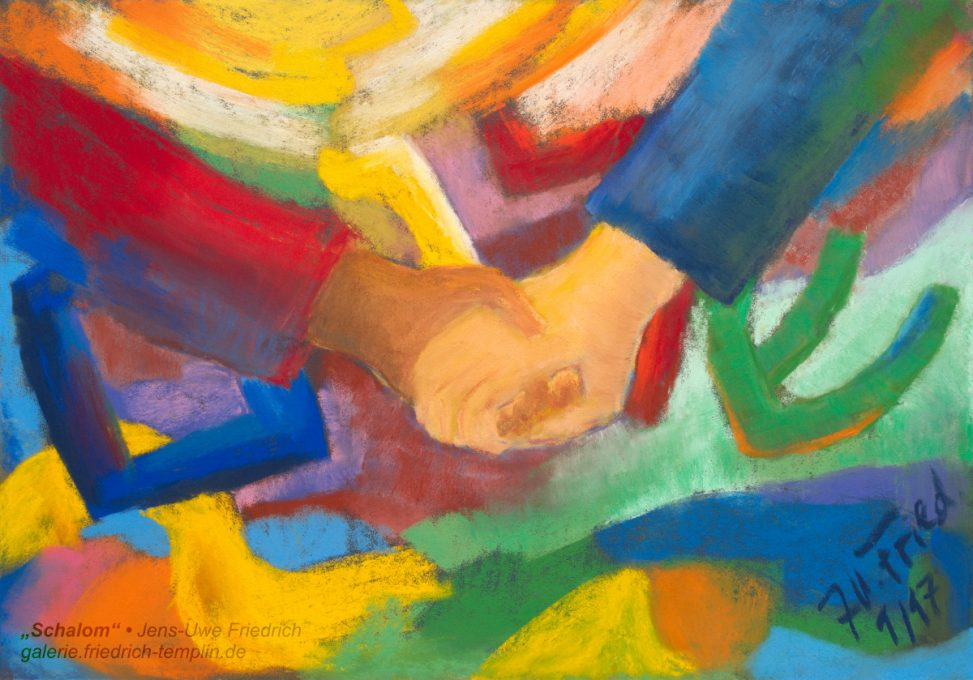 Hand in Hand gemeinsam Shalom Schalom שלום