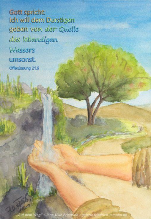 Bild zur Jahreslosung 2018 von Jens-Uwe Friedrich Postkarten Poster Kunstdruck
